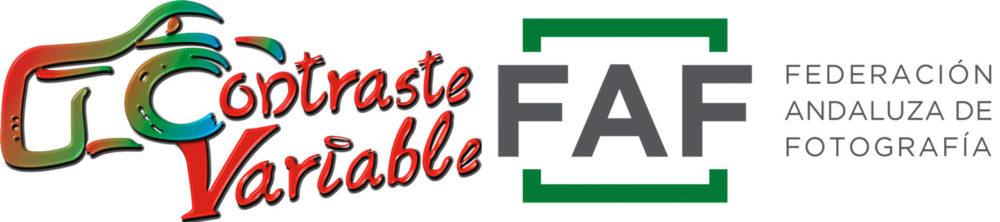 Logo Contraste Variable y Federación Andaluza de Fotografía