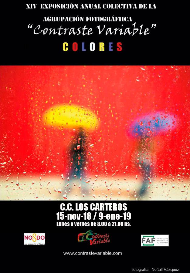 cartel exposición colores en los carteros
