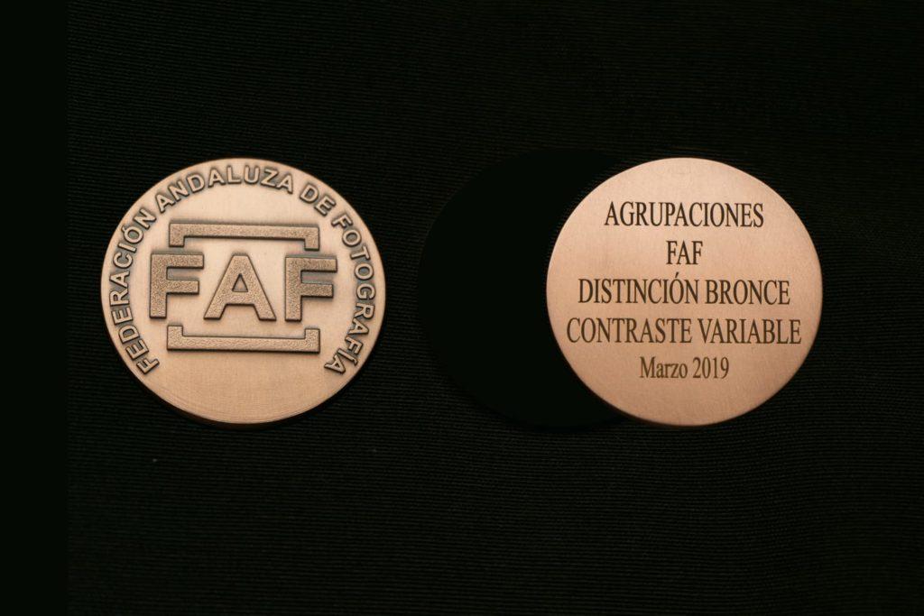 medalla distinción bronce de la faf