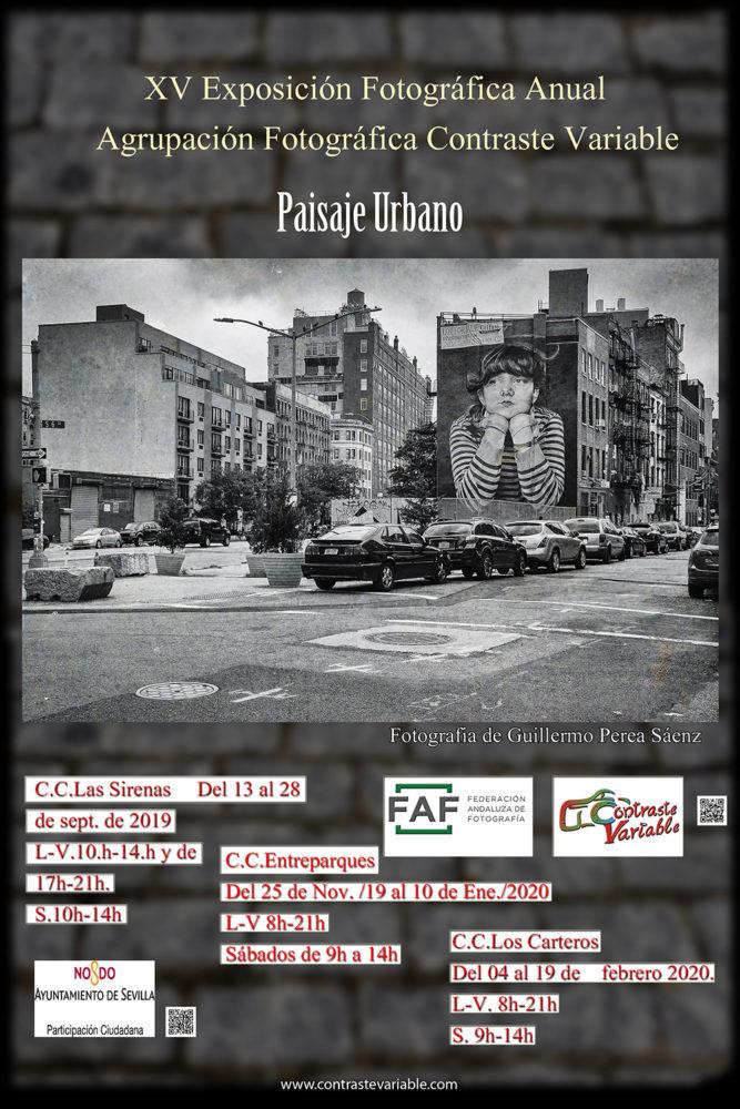 cartel exposición paisaje urbano