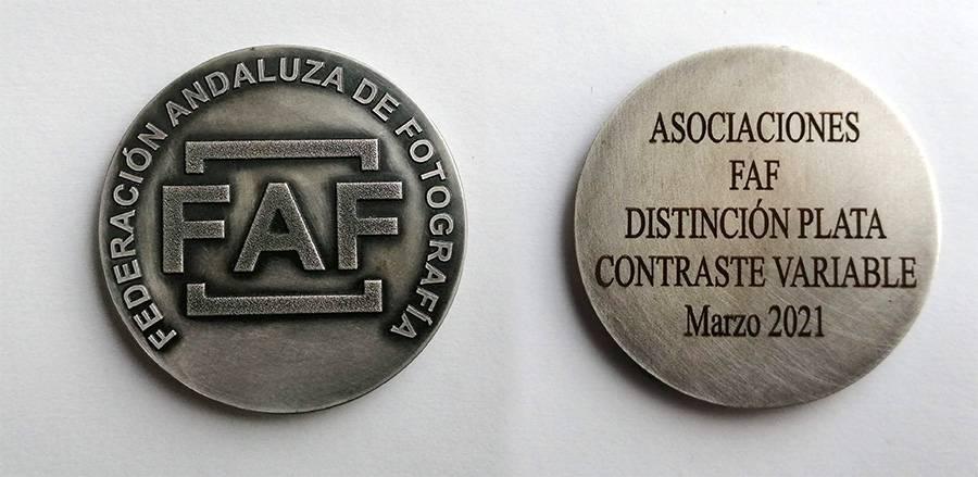 medalla federacion plata faf